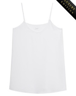 JADICTED V Neck Heavy Silk White
