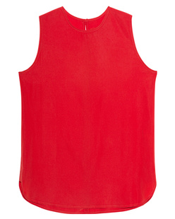 JADICTED Sleeveless Silk Red