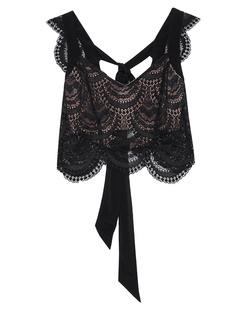 FOR LOVE AND LEMONS Rosalita Crop Black