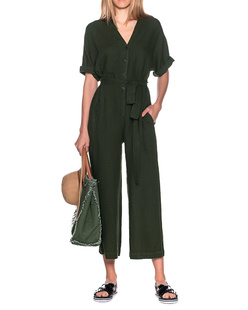 VELVET BY GRAHAM & SPENCER Tamra Leinen Dillweed Dark Green