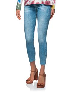 AG Jeans Prima Cropped Destroyed Light Blue