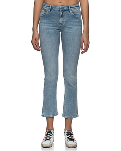 AG Jeans Jodi Crop High Rise Slim Flare Light Blue