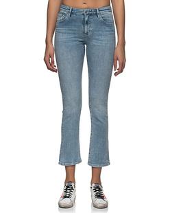 AG Jeans Jodi Crop High Rise Slim Flare Light Blue