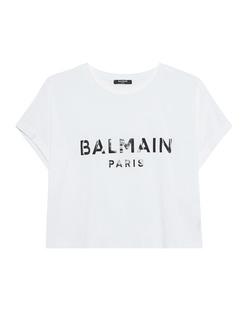 BALMAIN Cropped Logo White
