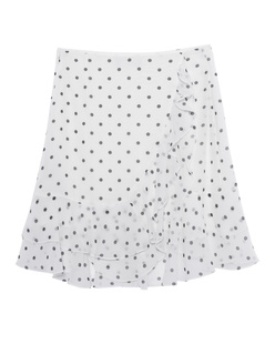 BALMAIN Ruffled Polka Short White
