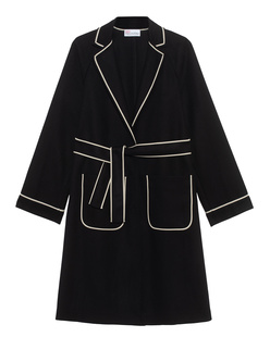 RED VALENTINO Cappotto Panno Lana Black