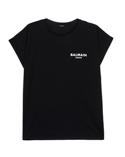 BALMAIN Flocked Logo Black