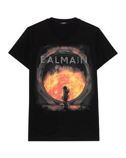 BALMAIN Foil Printed Black