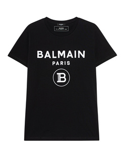 BALMAIN Flock White Logo Black
