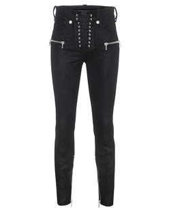 UNRAVEL Lace Up Skinny Black