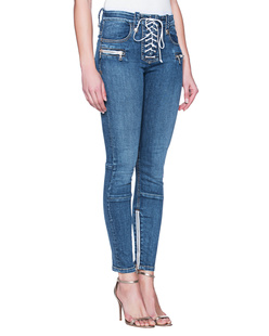 UNRAVEL Skinny Lace Up Blue