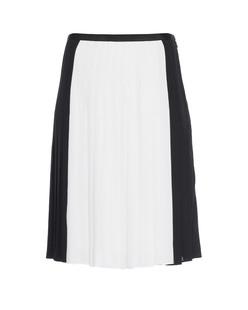 VINCE Colourblock Pleated Black White