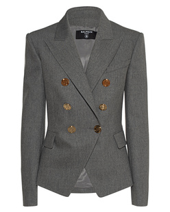 BALMAIN 6BTN Wool Grey