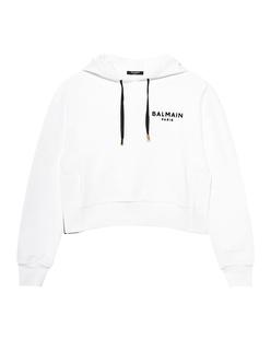 BALMAIN Hood Drawstring White