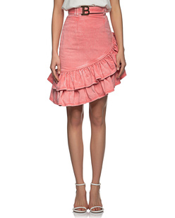 BALMAIN Asymmetric Acid Wash Denim  Rose