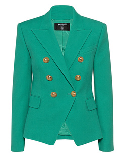 BALMAIN 6 BTN Cotton Pique Green