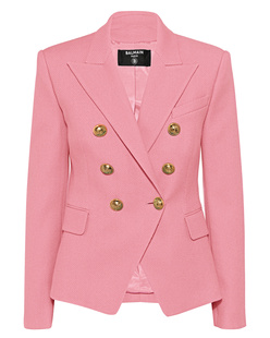 BALMAIN 6 BTN Cotton Pique Rose