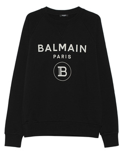 BALMAIN Logo Cracked Black