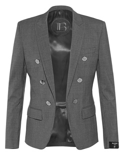 BALMAIN Collection Fit 6Btn Grey