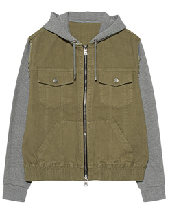 BALMAIN Denim Fleece Khaki