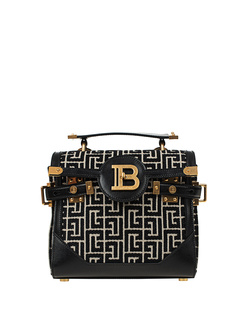 BALMAIN B-Buzz 23 Monogram Black White