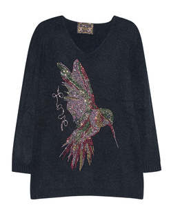 CAMOUFLAGE COUTURE STORK Hummingbird Knit Black