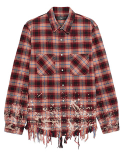 Amiri Bleached Flannel Red