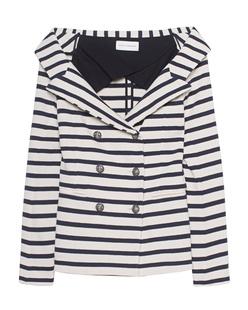 FAITH CONNEXION Sailor Striped Jacket Blue