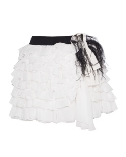 FAITH CONNEXION Silk Ruffle White