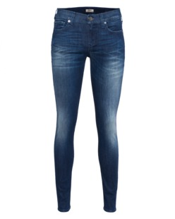 TRUE RELIGION Casey Low Rise Super Skinny Only Blues