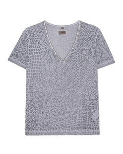 TRUE RELIGION V-Neck Snake Silver Grey