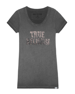 TRUE RELIGION Crewshirt Sparkle Black