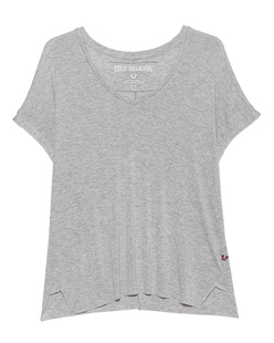 TRUE RELIGION Vneck Boxy Relax Grey Marl