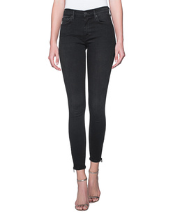 TRUE RELIGION Halle Zip Black Denim