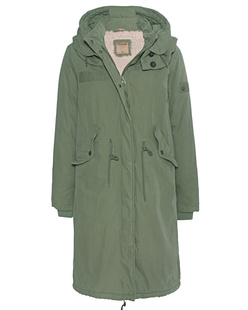 TRUE RELIGION Oversized Parka Chalk Green