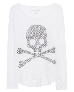 TRUE RELIGION Skull White