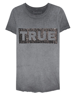 TRUE RELIGION Boxy Crew Glitter Grey