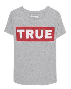 TRUE RELIGION Boxy Crew Logo Grey