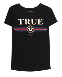 TRUE RELIGION Boxy Crew Artwork Black