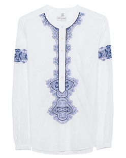 TRUE RELIGION Festival Embroidery White