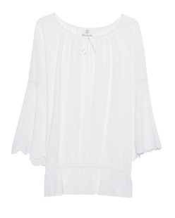 TRUE RELIGION Trumpet Blouse White