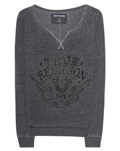 Crew Fleece Relax True Religion Black
