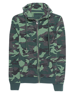 TRUE RELIGION Hooded Zip Camouflage Dusty Olive