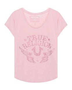 TRUE RELIGION Rhinstone Calif. Le Pink