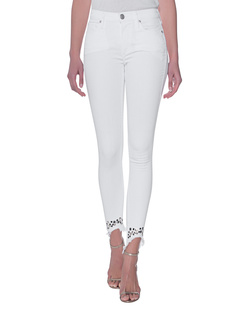 TRUE RELIGION Halle Studs Optic White