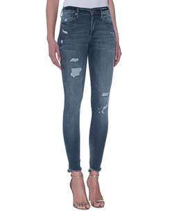 TRUE RELIGION Halle Superstretch Blue Denim