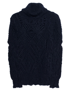 TRUE RELIGION Turtle Knit Navy