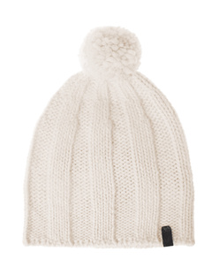 TRUE RELIGION Knit Pom Pom Off White