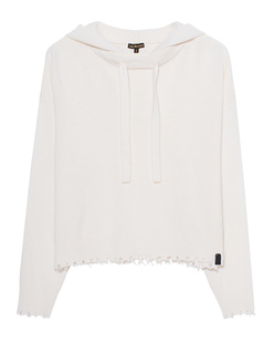 TRUE RELIGION Hooded Wool Off White