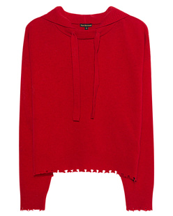 TRUE RELIGION Hooded Wool Red